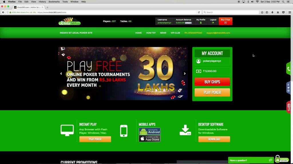 Khelo 365 to play poker